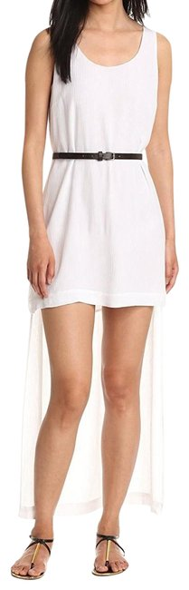 Item - White Women's High-low Slit Maxi Long Short Casual Dress Size 10 (M)