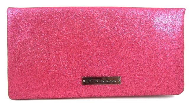Item - Glitter Shimmer Pink Faux Leather Clutch