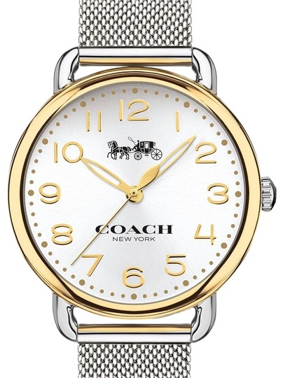 Coach Coach Delancey stainless steel and mesh bracelet 36mm watch Image 0