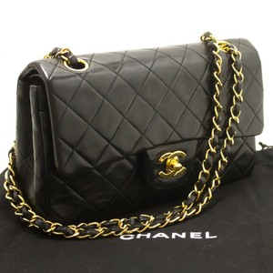 d29d957d8569 Chanel Vintage Lambskin Classic Flap Vintage Double Flap Shoulder Bag