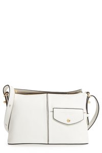 Marc Jacobs Structured Piping Snap Flap Adjustable Straps Cross Body Bag
