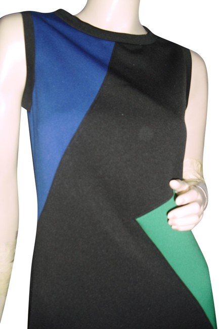Item - Emerald Green Indigo Black Color Shapely Fit Mid-length Short Casual Dress Size 6 (S)