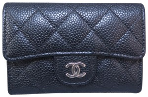 Chanel Chanel Black Caviar Business Card Holder