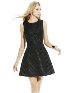 Vince Camuto Fit And Flare Sleeveless Little Shimmer Dress