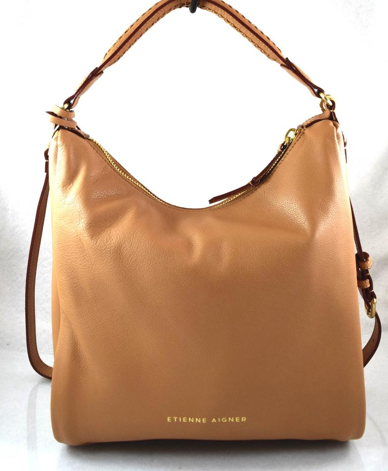 357c8100178a Etienne Aigner Ava Brown Camel Leather Hobo Bag - Tradesy