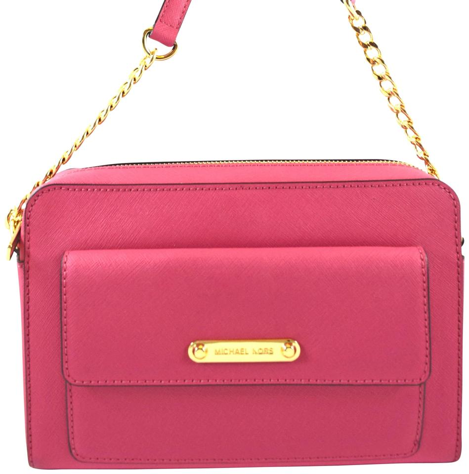 fb3a8657a5803c Michael Kors Pink Tulip Messenger Bag .