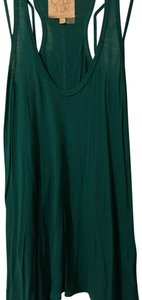 CHASOR Strappy Sleeveless Artsy Cutaway Tunic Top Teal