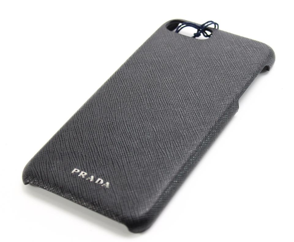 da793ab1b5b5 Prada Prada Cell Phone case - Black Saffiano Leather iPhone Case 7 Image 0  ...