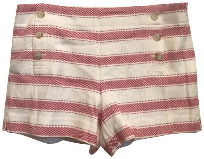 Item - Red /Off White Riviera Shorts Size 8 (M, 29, 30)