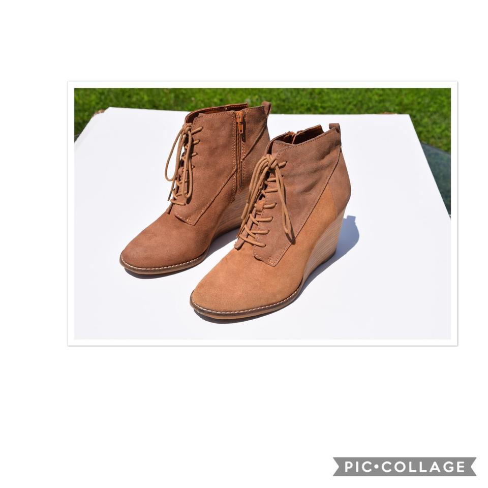 lady Lucky Brand Boots/Booties Tan Wedge Boots/Booties Brand Excellent value 739143