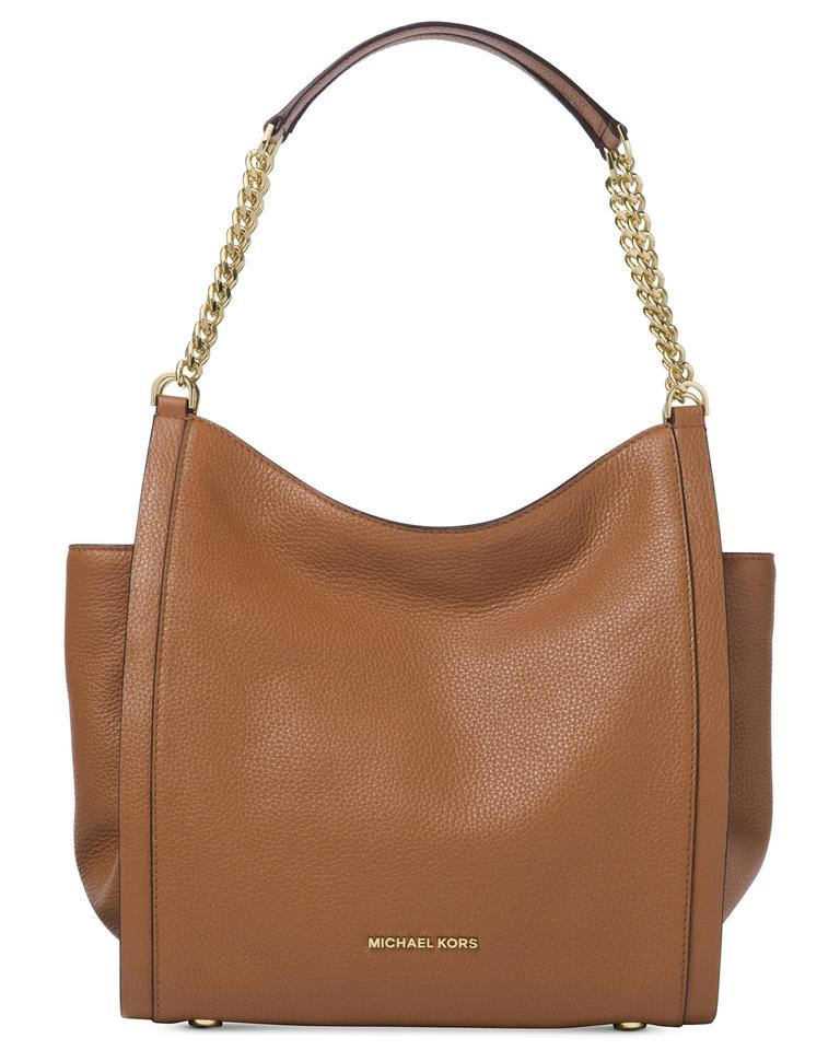 9073095d1650 Michael Kors Newbury Medium Chain Acorn Leather Shoulder Bag - Tradesy