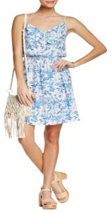 J. McLaughlin short dress NEW WITH TAGS * Blue Mini Silk Floral Sleeveless Sundress on Tradesy