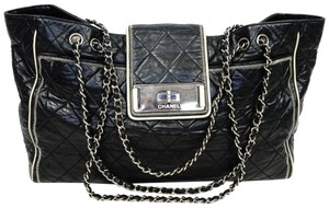 Chanel Shopper Tote Jumbo Lambskin Vintage Cross Body Bag