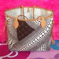 Louis Vuitton Sold Out Collectors Limited Edition Rare Neverfull Tote in White Pumpkin Dots Monogram Image 1