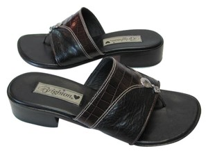 Brighton Size 6.50m BLACK, BROWN Sandals