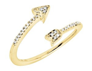 Jewelry Unlimited Arrow Wrap Style Diamond Engagement Fashion Cocktail Ring .10 Ct