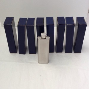 Silver Flask Set Of 8 Groomsman Gift