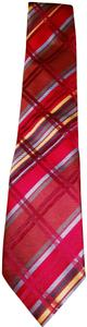 Burberry burgundy Burberry Nova check silk tie