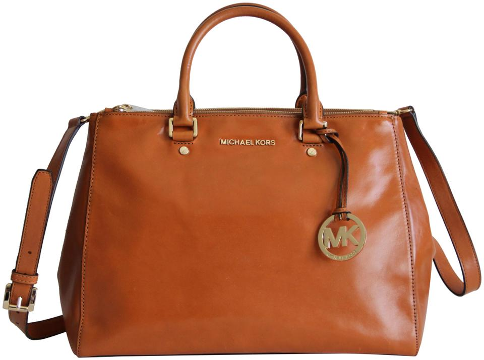 267405f6aba614 purchase michael kors bedford dressy tote in light luggage 1d455 579a8