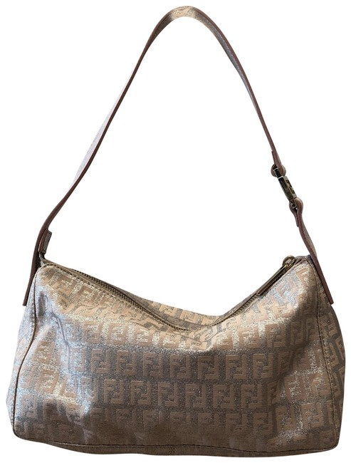Item - Borsa Tube Metallic Silver Canvas Shoulder Bag