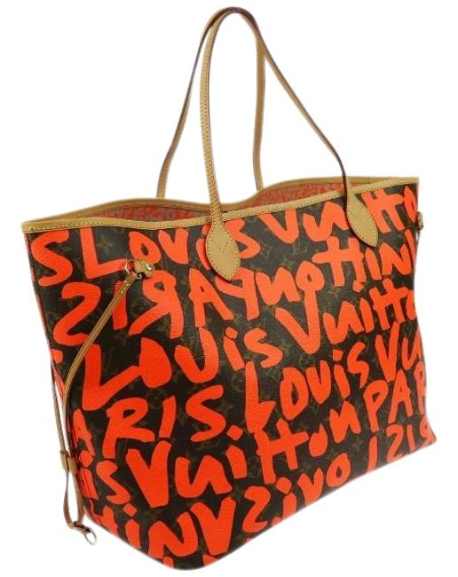 Item - Shoulder Bag Neverfull Graffiti Gm Limited Rare Stephen Sprouse Neon Orange Monogram Collectors Canvas Tote