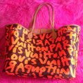 Louis Vuitton Limited Edition Sold Out Rare Neverfull Tote in Neon Orange Monogram Collectors Image 11
