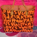 Louis Vuitton Limited Edition Sold Out Rare Neverfull Tote in Neon Orange Monogram Collectors Image 2