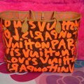 Louis Vuitton Limited Edition Sold Out Rare Neverfull Tote in Neon Orange Monogram Collectors Image 4