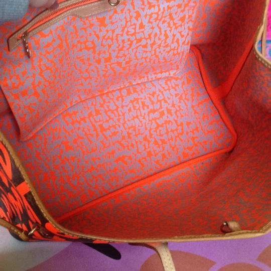 Louis Vuitton Limited Edition Sold Out Rare Neverfull Tote in Neon Orange Monogram Collectors Image 7