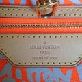 Louis Vuitton Limited Edition Sold Out Rare Neverfull Tote in Neon Orange Monogram Collectors Image 8