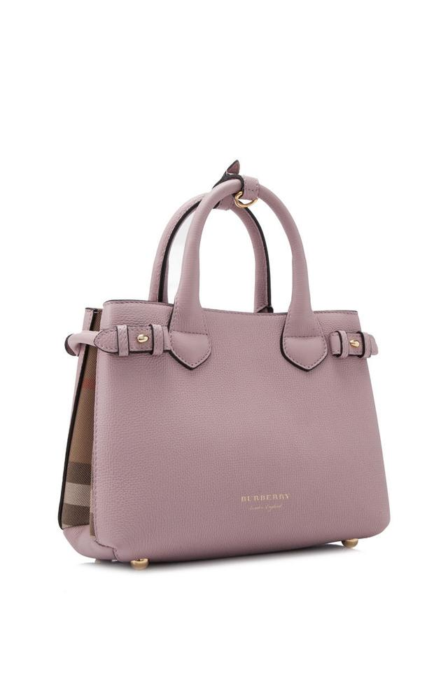 fb276def84ca Burberry House Check Derby Leather Small Banner Brown Multicolor Tote -  Tradesy