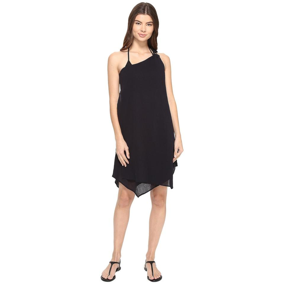 e51c618155 MICHAEL Michael Kors Black Women's Gauze One-shoulder Layered Beach Cover-up /Sarong