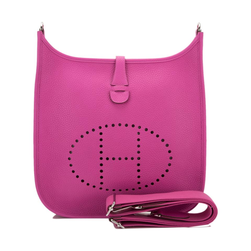 e91d627b2649 Hermès Evelyne Magnolia Clemence Iii Pm Pink Leather Cross Body Bag ...