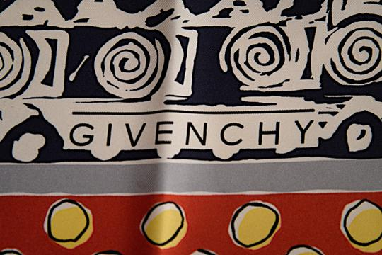 Givenchy GIVENCHY Multi 100% Silk Twill Floral Geometric Motif Scarf Image 6