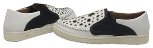 Thakoon Addition Loafers Leather Size 10 White / Black Flats