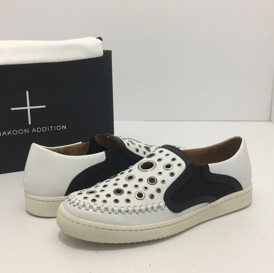 Thakoon Addition Loafers Leather Size 10 White / Black Flats Image 1