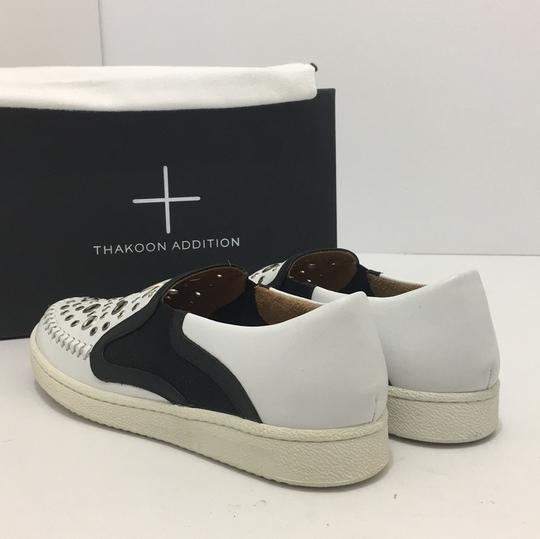 Thakoon Addition Loafers Leather Size 10 White / Black Flats Image 11