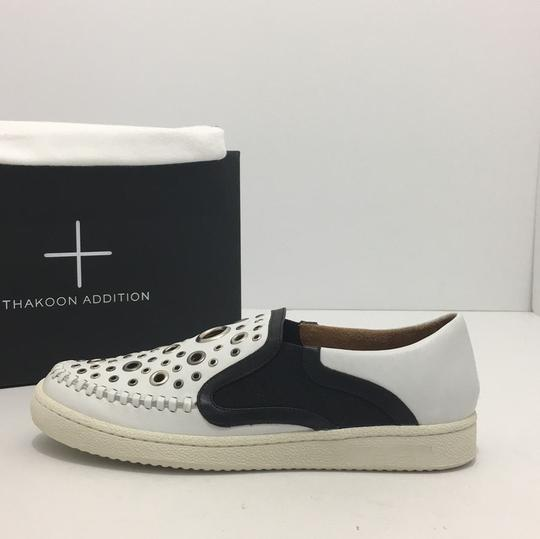 Thakoon Addition Loafers Leather Size 10 White / Black Flats Image 2