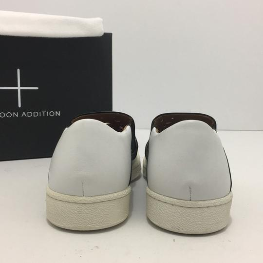 Thakoon Addition Loafers Leather Size 10 White / Black Flats Image 3