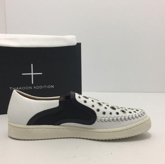 Thakoon Addition Loafers Leather Size 10 White / Black Flats Image 4