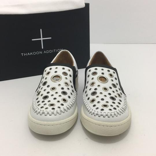 Thakoon Addition Loafers Leather Size 10 White / Black Flats Image 5