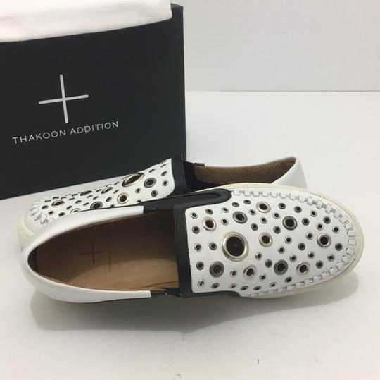 Thakoon Addition Loafers Leather Size 10 White / Black Flats Image 6