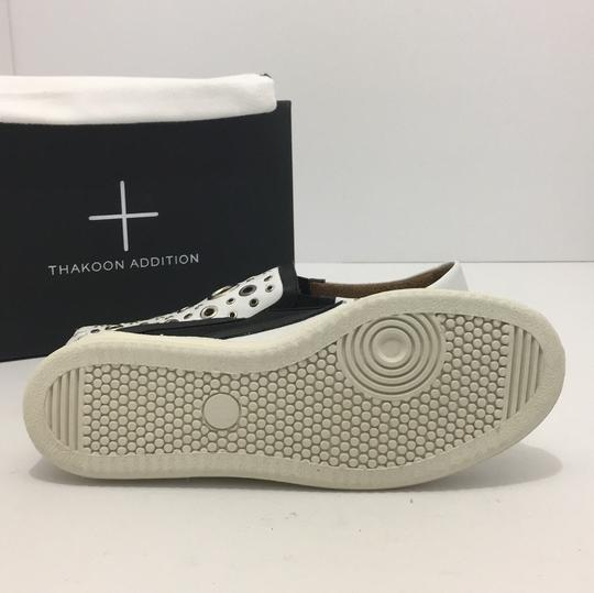 Thakoon Addition Loafers Leather Size 10 White / Black Flats Image 7