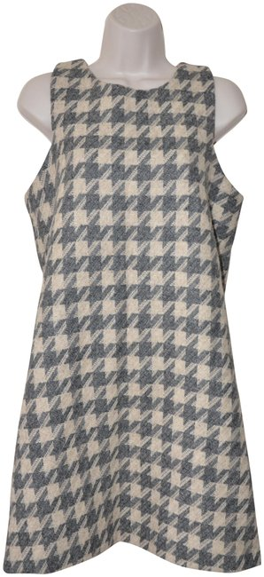 Preload https://img-static.tradesy.com/item/23277509/beige-grey-houndstooth-wool-blend-sleeveless-4812-new-short-formal-dress-size-12-l-0-2-650-650.jpg