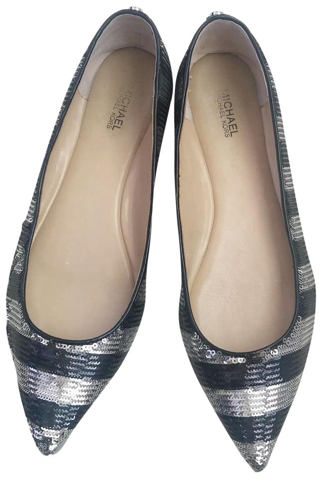 f2596172fe6 MICHAEL Michael Kors Black and Silver Arianna Pointed Toe In Sequin ...