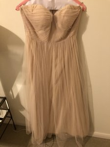 Jenny Yoo Beige Tulle Annabelle Convertible Column Formal Bridesmaid/Mob Dress Size 2 (XS)