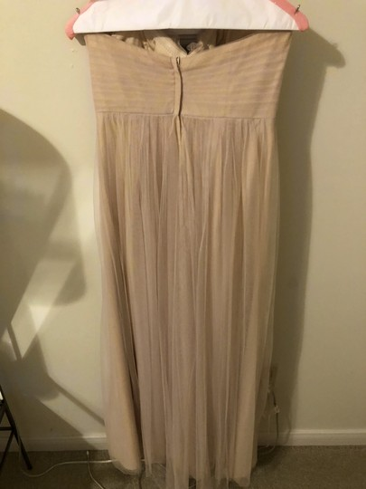 Jenny Yoo Beige Tulle Annabelle Convertible Column Formal Bridesmaid/Mob Dress Size 2 (XS) Image 2