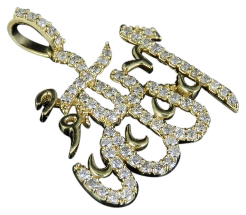 Jewelry unlimited 10k yellow gold real diamond arabic allah pendant jewelry unlimited 10k yellow gold real diamond arabic allah pendant 1 ct 125 aloadofball Images
