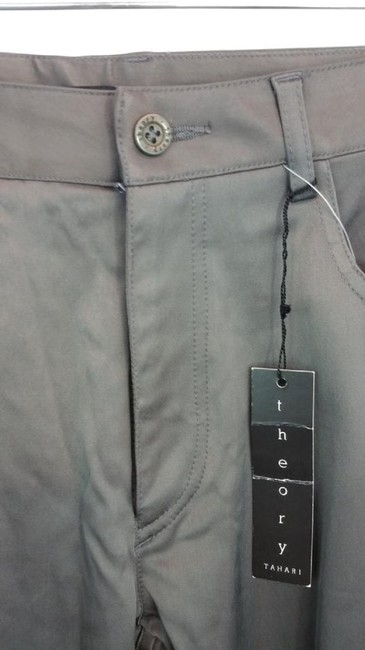 Theory Straight Pants Gray Image 1