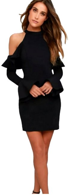 Preload https://img-static.tradesy.com/item/23277681/free-people-black-ruffled-bell-sleeve-cold-shoulder-short-night-out-dress-size-0-xs-0-1-650-650.jpg